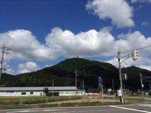 竹田城 国道から